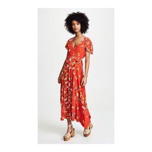 [free people] Gorgeous Jessica Wrap Maxi Dress